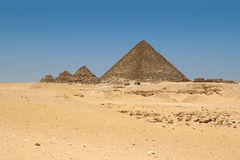 The Pyramids in Giza, Egypt Royalty Free Stock Photos