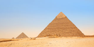Pyramids in Giza. Egypt Stock Photo