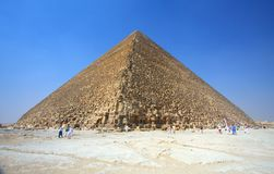 The Pyramids at Giza in Egypt Stock Photography