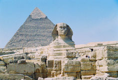 Pyramids at Giza Egypt Stock Image