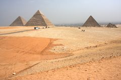 Pyramids of Giza, Egypt Royalty Free Stock Images