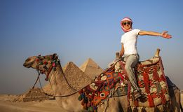 Pyramids of Giza Stock Images