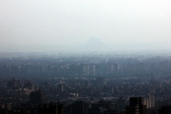 Giza pyramids in egypt. Great pyramids of giza from cairo tower in egypt Royalty Free Stock Images