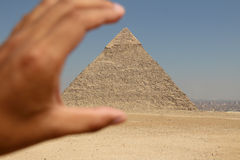 The pyramids of giza group Stock Photo