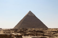 The pyramids of giza group Stock Image