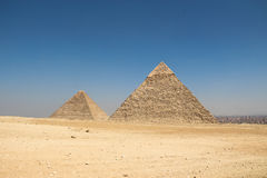 The pyramids of giza group Stock Photo