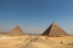 The pyramids of giza group Stock Photos