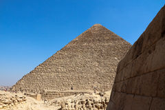 The pyramids of giza group Royalty Free Stock Photography