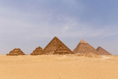 Pyramids of Giza. Landscape with six pyramids of Giza Royalty Free Stock Image