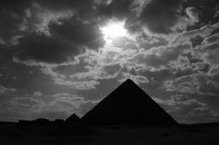 Pyramids at Giza near Cairo Stock Image