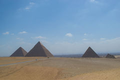 Pyramids of Giza. Panoramic of de pyramids of giza Royalty Free Stock Image