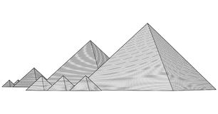 Pyramids From The Giza Plateau Vector Stock Photos