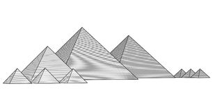 Pyramids From The Giza Plateau Vector Stock Images