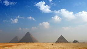 Pyramids of Giza Stock Photography