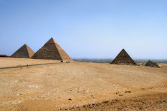 Pyramids in Giza Royalty Free Stock Photo