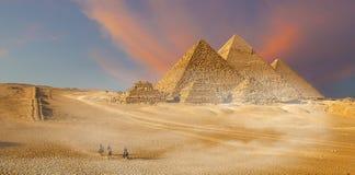 Pyramids of Giza Royalty Free Stock Photos