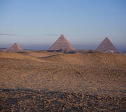 The Pyramids of Giza at sunrise Royalty Free Stock Image