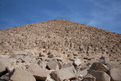 Front View of Pyramid with Tumbling Rocks Royalty Free Stock Photos