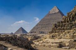 The pyramids. The great Giza pyramids Royalty Free Stock Photography