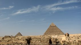 Pyramids and Great Sphinx of Egypt Stock Photography