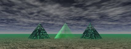 Pyramids green Royalty Free Stock Image