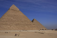 Pyramids of Khafre and Khufu Stock Image