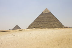Pyramids of Khafre and Khufu Royalty Free Stock Image