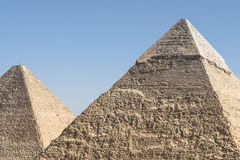 Pyramids of Khafre and Khufu, Giza, Egypt Stock Photography