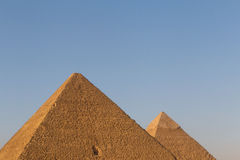 Pyramids of Khufu and Khafre. Against blue sky Royalty Free Stock Image