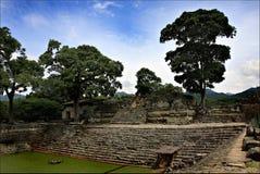 Pyramids Maya, National park Copan in Honduras, vacation trip Royalty Free Stock Photography