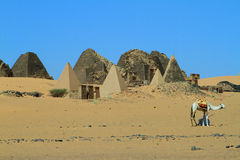 The Pyramids of Meroe Stock Photo