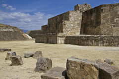 The pyramids of Monte Alban, Oaxaca, Mexico Royalty Free Stock Photo