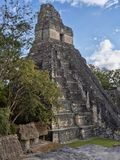 Pyramids in Nation`s most significant Mayan city of Tikal Park, Guatemala stock photos