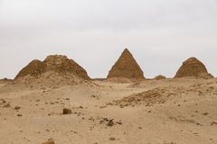 The pyramids at Nuri Royalty Free Stock Photo