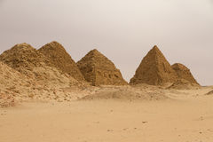 The pyramids at Nuri Royalty Free Stock Photos