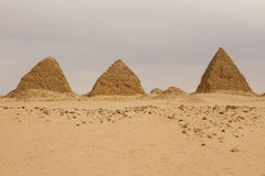 The pyramids at Nuri Stock Photo