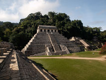 The pyramids at Palenque Stock Photo