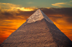 Pyramids of the pharaohs in Giza Stock Image