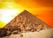 Pyramids of the pharaohs in Giza royalty free stock image