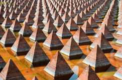 Pyramids of Plaza Juarez Royalty Free Stock Images