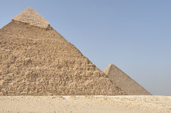 Pyramids, second greatest with the great pyramid Stock Images
