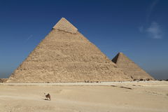 The Pyramids and Sphinx of Egypt Royalty Free Stock Photos
