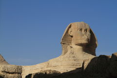 The Pyramids and Sphinx of Egypt Stock Image