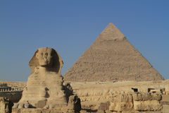 The Pyramids and Sphinx of Giza Stock Photo