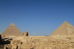 The Pyramids and Sphinx of Giza Royalty Free Stock Photo