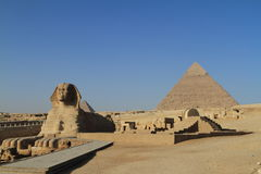 The Pyramids and Sphinx of Giza Royalty Free Stock Images