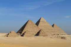 The Pyramids and Sphinx of Giza Stock Photography