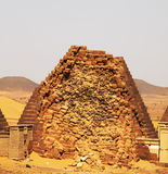 Pyramids in the Sudan Royalty Free Stock Photos