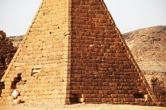 Pyramids in Sudan Royalty Free Stock Photo