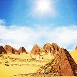 Pyramids in Sudan Royalty Free Stock Photo